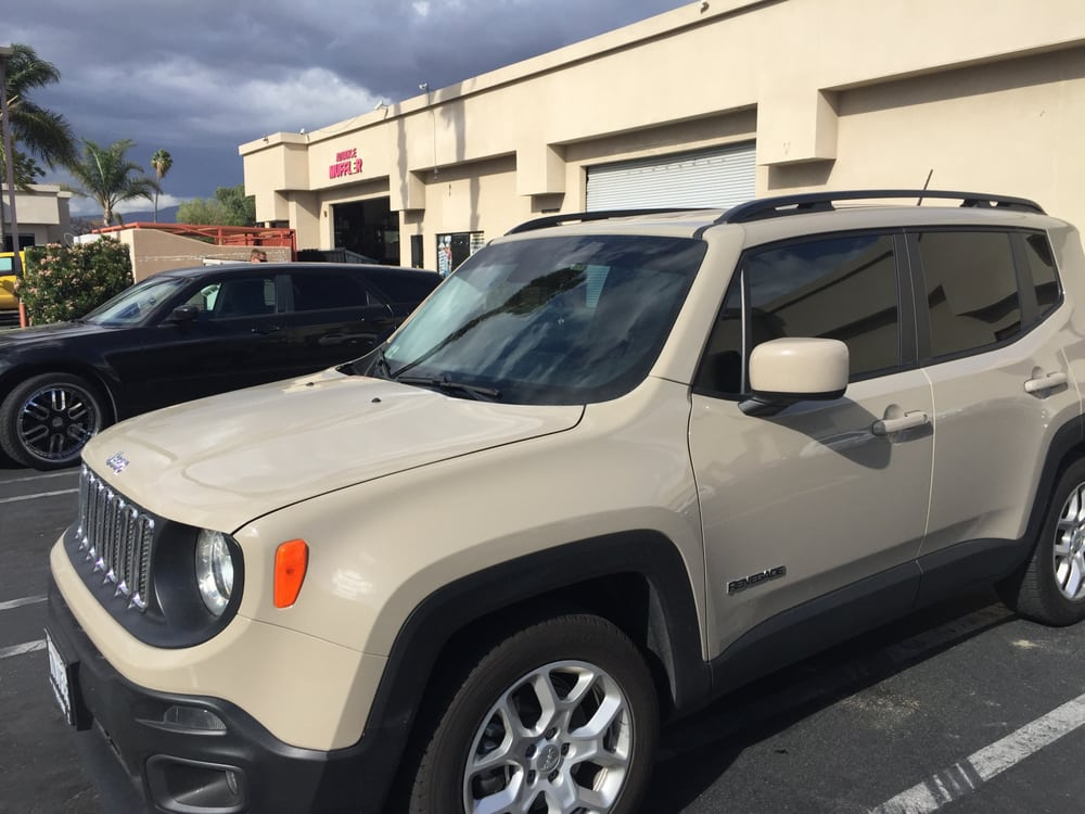 Post Tint Front View Upper Strip 2015 Jeep Renegade Latitude