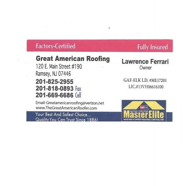 Good The Great American Roofing Company   Roofing   120 E Main St, Ramsey, NJ    Phone Number   Yelp