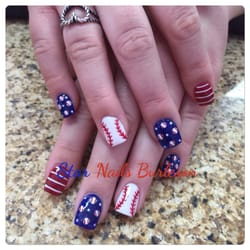 Star Nails Nail Salons 344 Sw Wilshire Blvd Burleson Tx Texas Rangers Designs