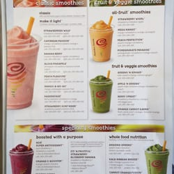 photo of jamba juice saint louis mo united states menu as of