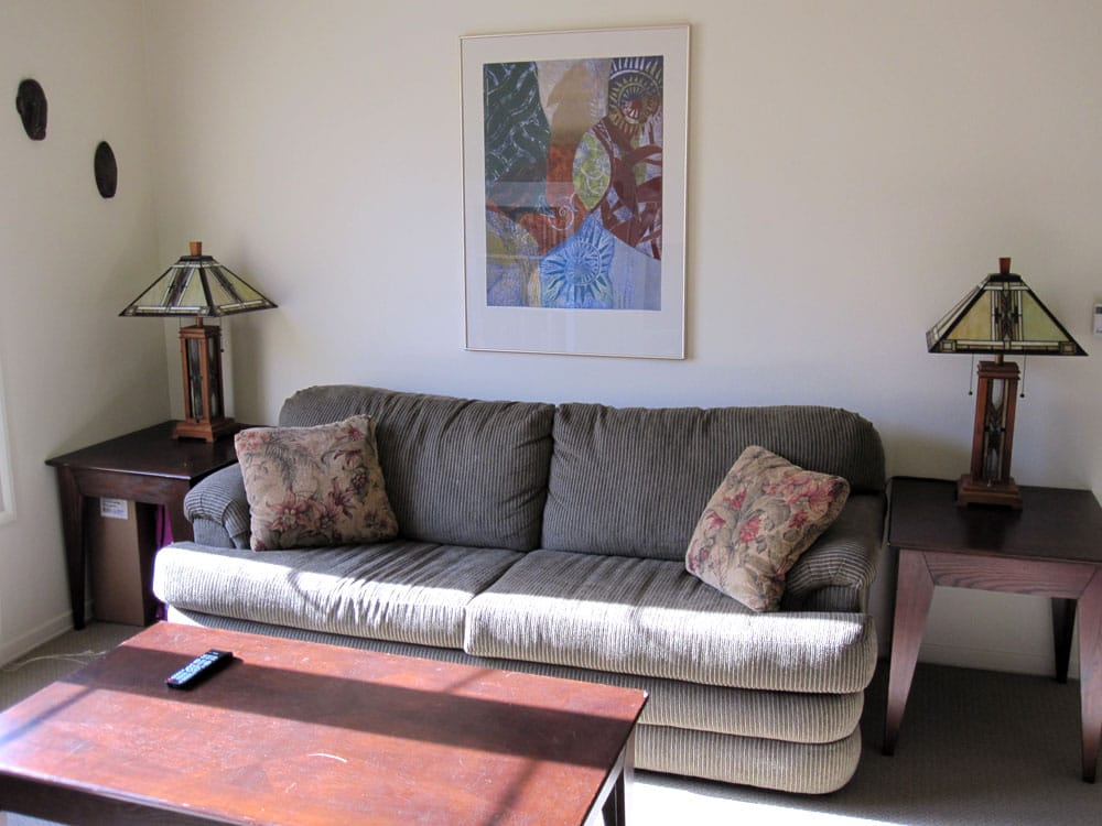 Living room in 2-bedroom, non-Townhouse apartment ...