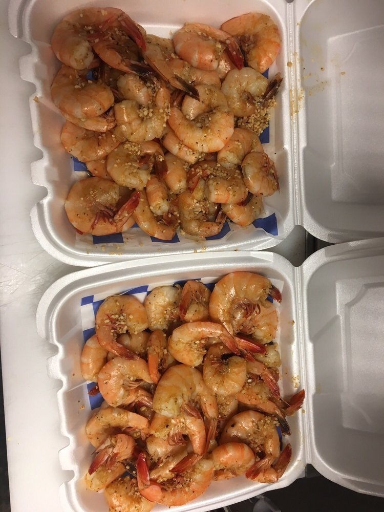 Food from K & M Seafood Market and Grill