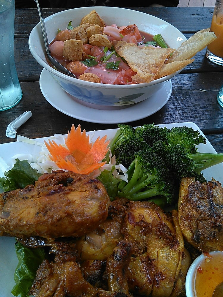 Bbq chicken thai pho yelp for Authentic thai cuisine portland