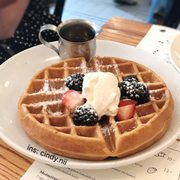 Photo of Jack's Wife Freda - New York, NY, United States. Rose water waffle