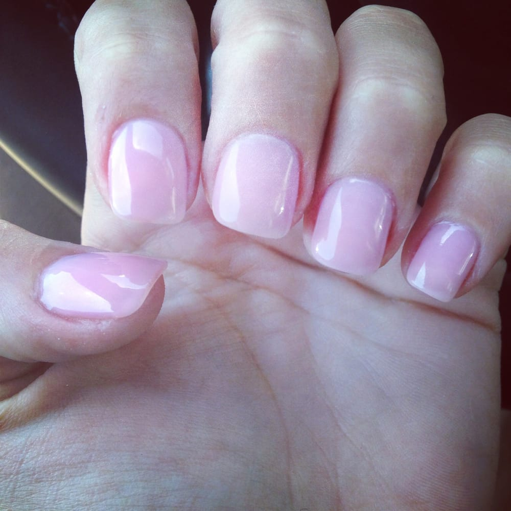 Acrylic Nails By Linh Pink Acrylic With Pink Gel On Top Yelp