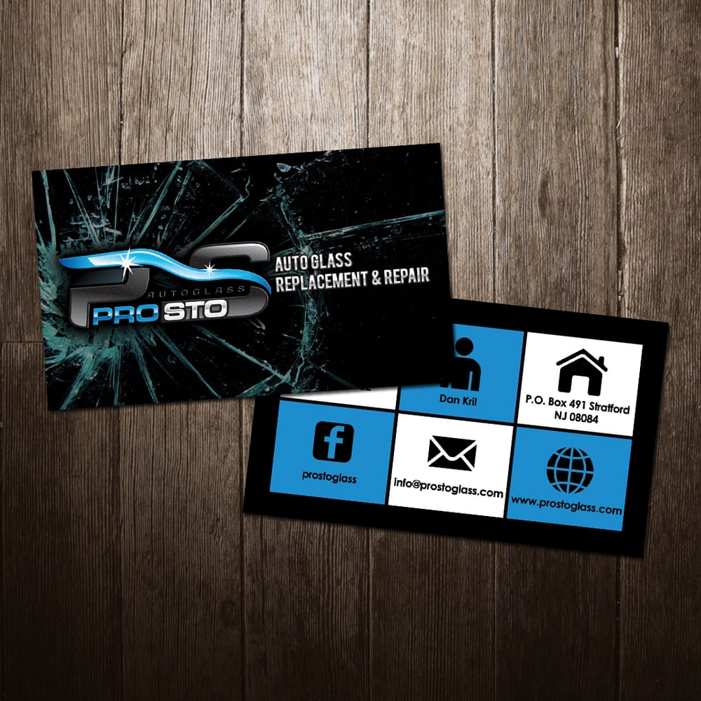 ProSto Autoglass business card design and printing - Yelp