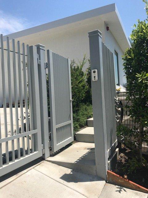 Custom Pedestrian Gate For Beverly Hills Ca With Door Bird Access