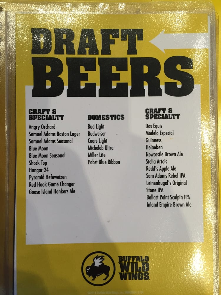 Beer Menu  Yelp