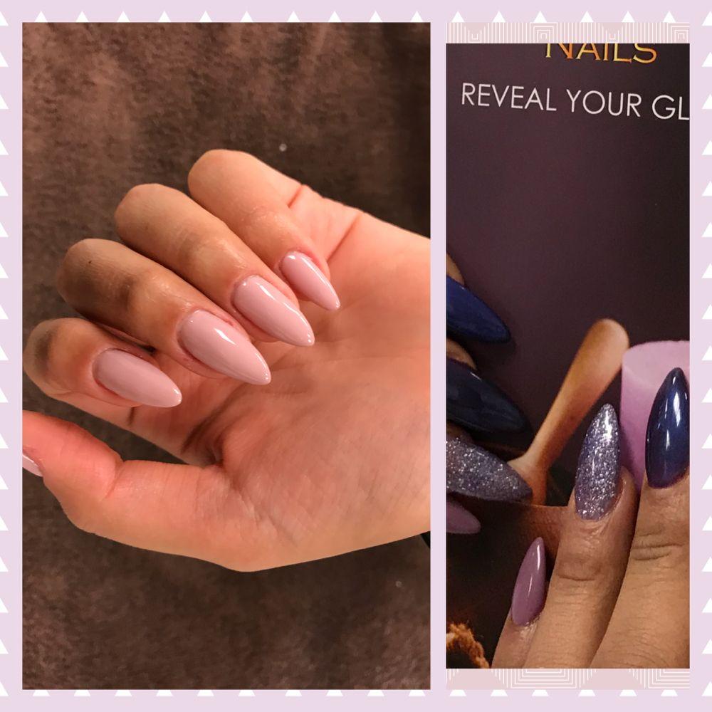 Photo Of Shine Envision Nails Houston Tx United States Almond Shape Natural