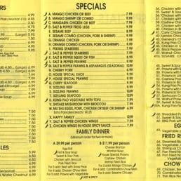 Photo Of Spring Garden Restaurant Woodland Ca United States Menu Back As