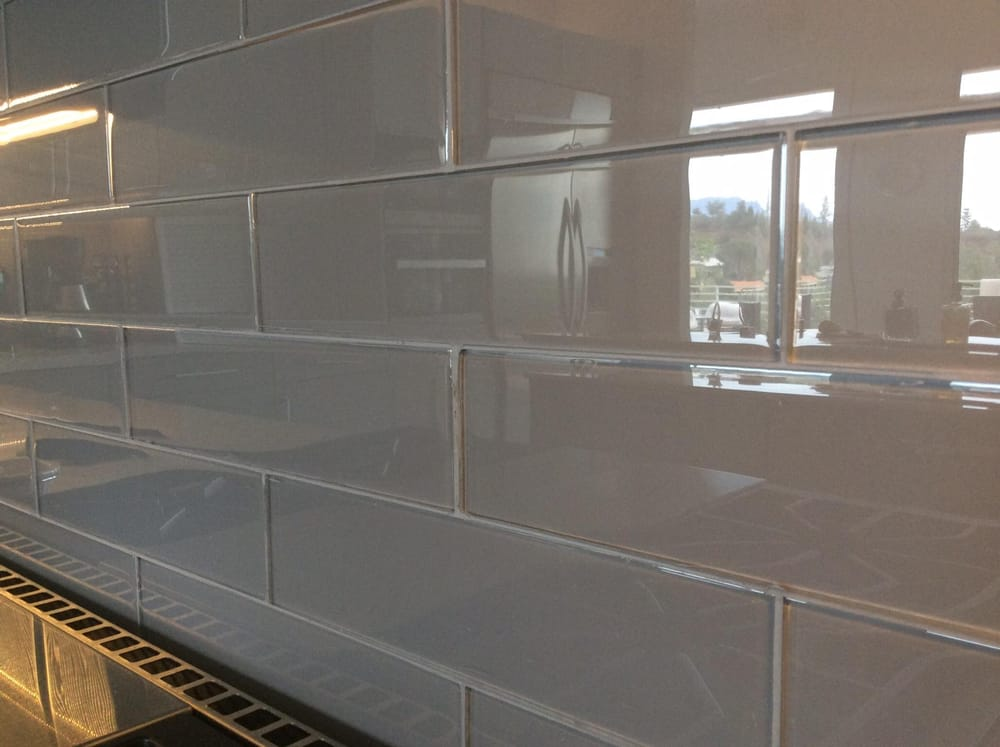 Ideal 3x12 subway glass backsplash - Yelp YS99