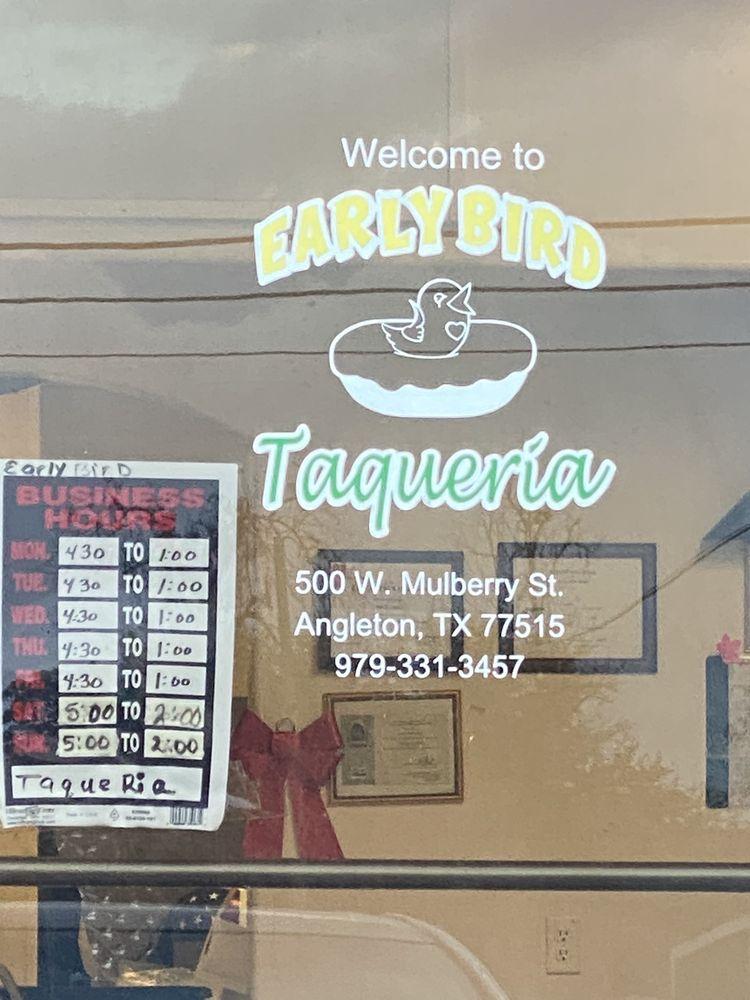 Early Bird Tacqueria: 500 W Mulberry St, Angleton, TX