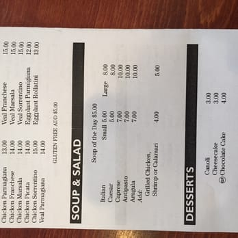 River Edge Pizza Kitchen River Edge Nj Menu