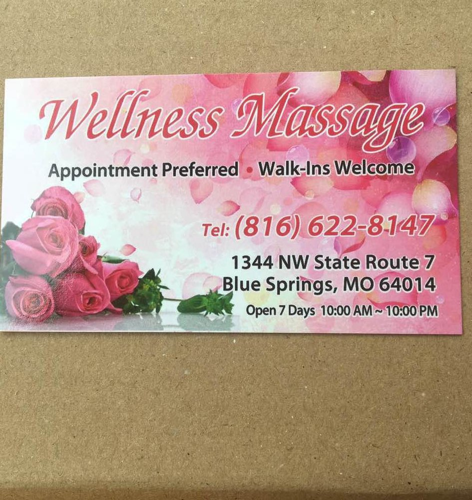 Wellness Massage Located At 1344 Nw State Route 7 Blue Springs Mo
