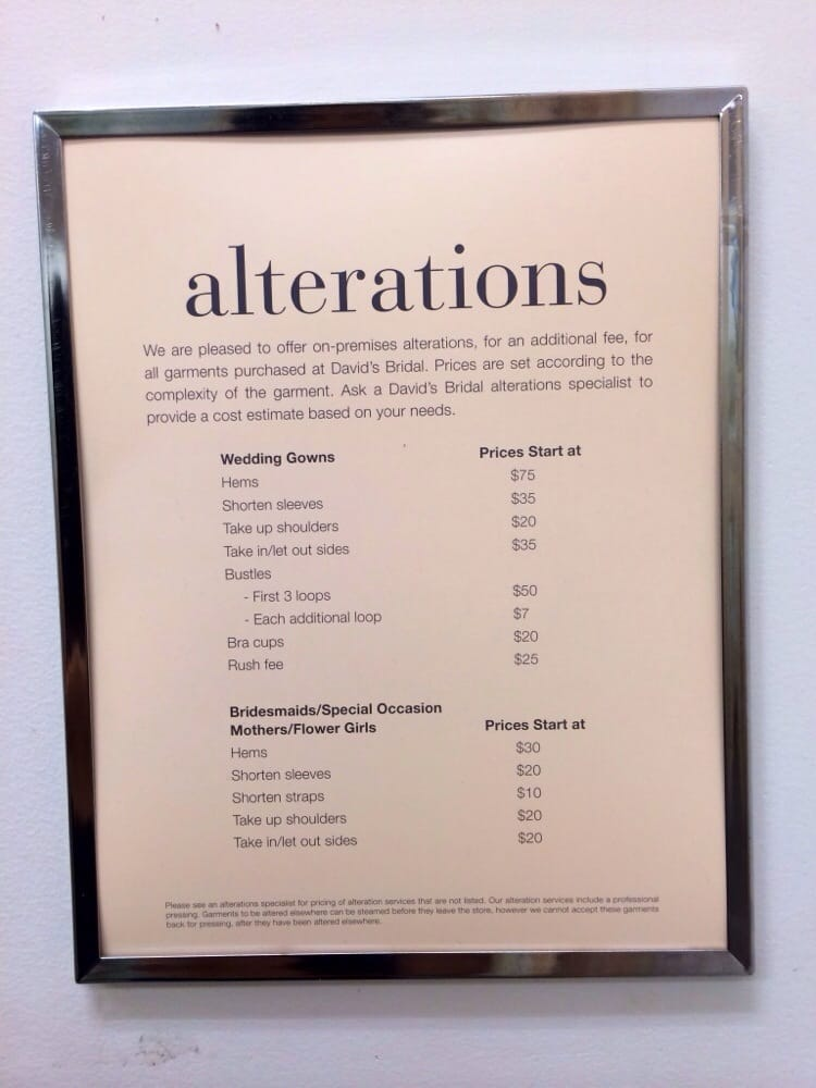 Alteration Prices Yelp