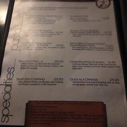 Casagrandas Steakhouse Menu