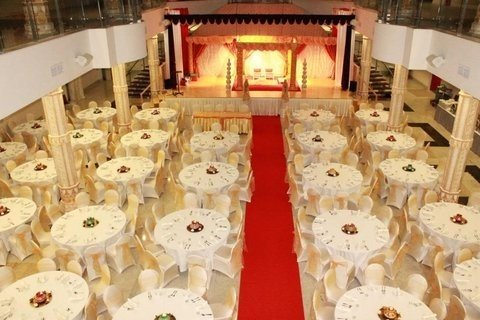 Typical Seating Arrangement And Podium For A Hindu Wedding Reception