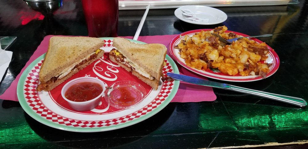 Food from Famous 50's Diner