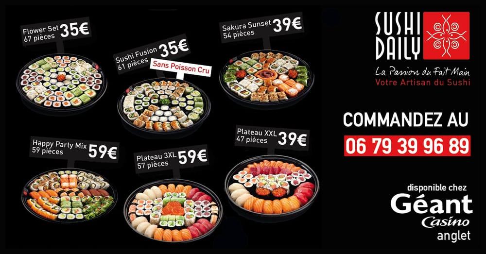Sushi geant casino anglet arcachon casino mauresque