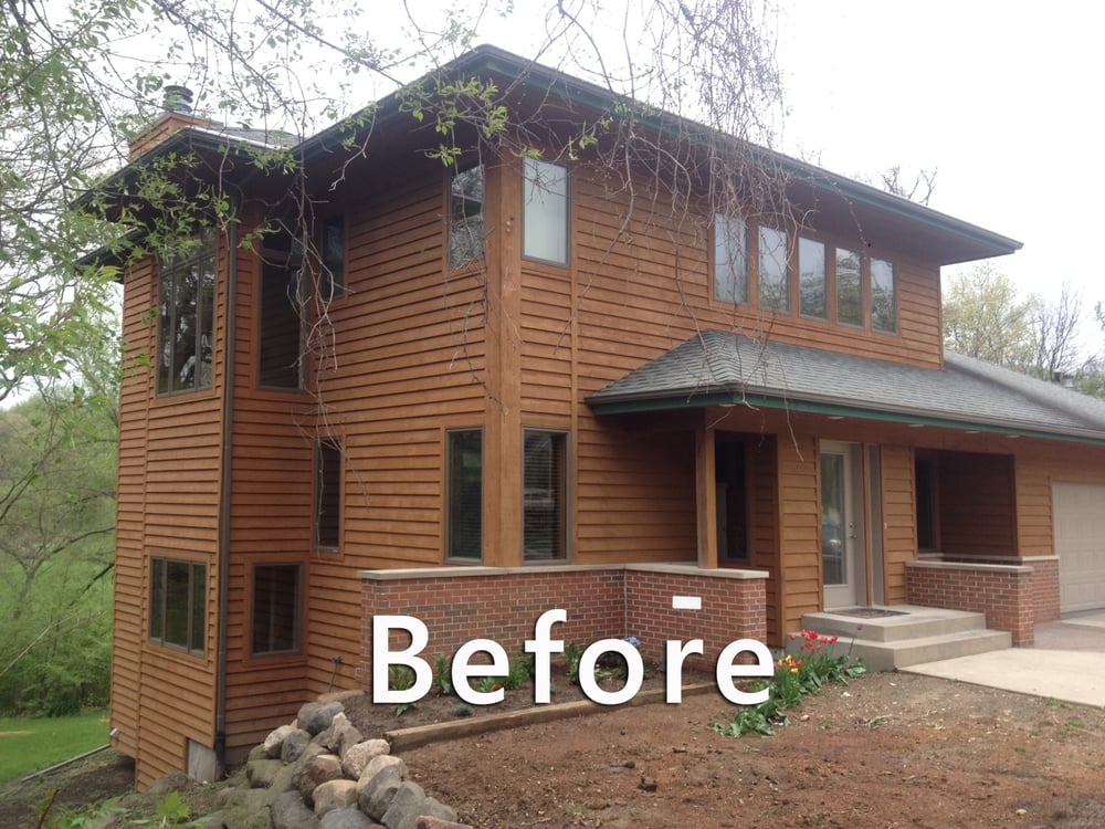 Before picture of stoughton exterior yelp - Exterior house washing madison wi ...