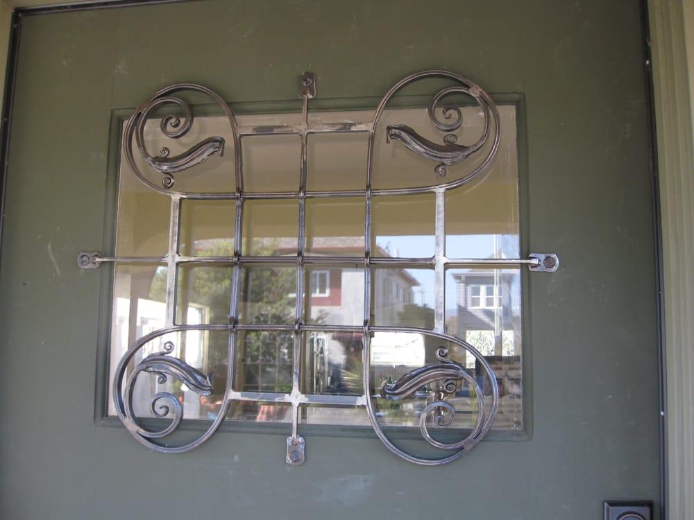 Metal window Guards.