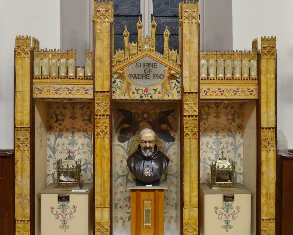 Shrine Of St Padre Pio Located Within The Church