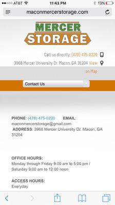 Mercer Storage Mercer University Dr Macon GA WarehousesSelf - Mapquest macon ga