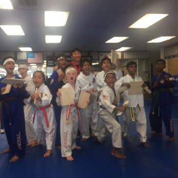 Nailing in the karate studio