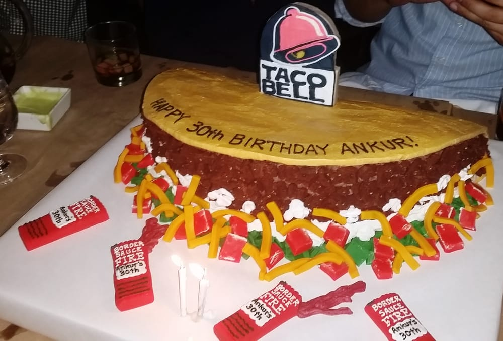 Taco Bell Cake Meat Made With Cookie Crumbs For A Textured Look Yelp