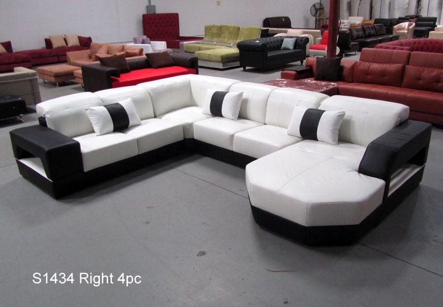 Photo Of Stendmar   Ontario, CA, United States. 4PC Modern Euro Style  Leather