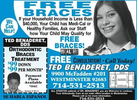 Ted Benaderet DDS Orthodontists 9900 McFadden Ave Westminster