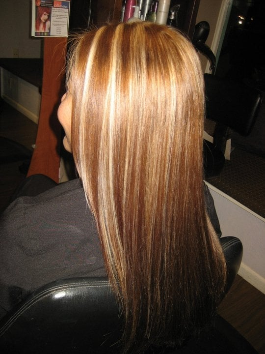 Light Golden Brown With Blonde Sliceshair By Danielle E Yelp