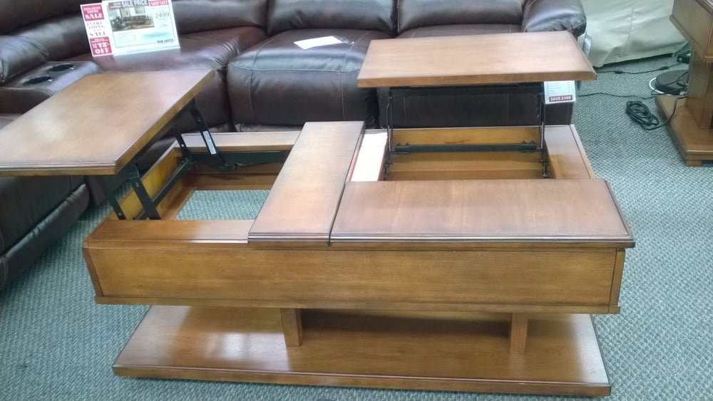 Interesting Double Lift Coffee Table Doesn T Sit Flush