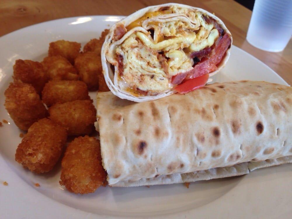 Big burrito minus the avocado w tator tots yelp for Country kitchen santa monica