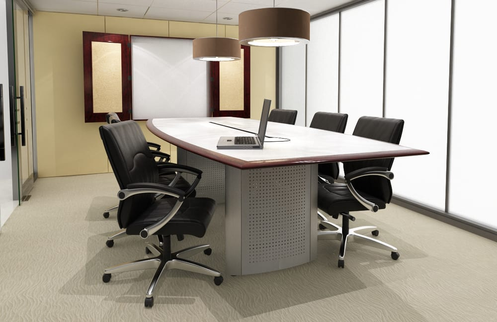 Friant Mesa Conference Table Yelp - White laminate conference table