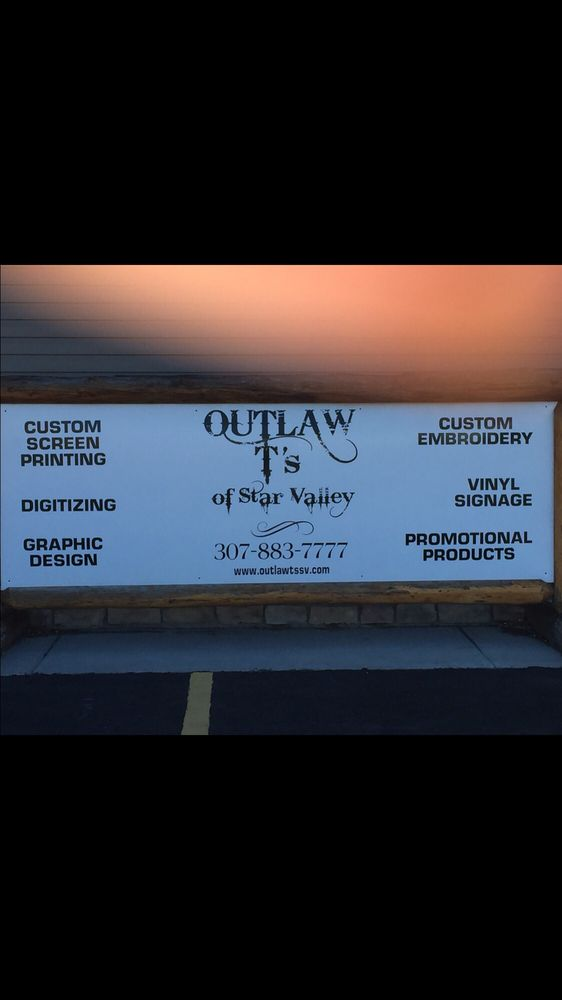 Outlaw T's of Star Valley: 616 N Main, Thayne, WY
