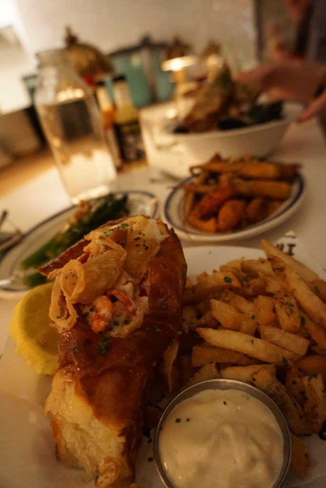 Lobster roll and broccolini have to say the broccolini for Ironside fish and oyster san diego