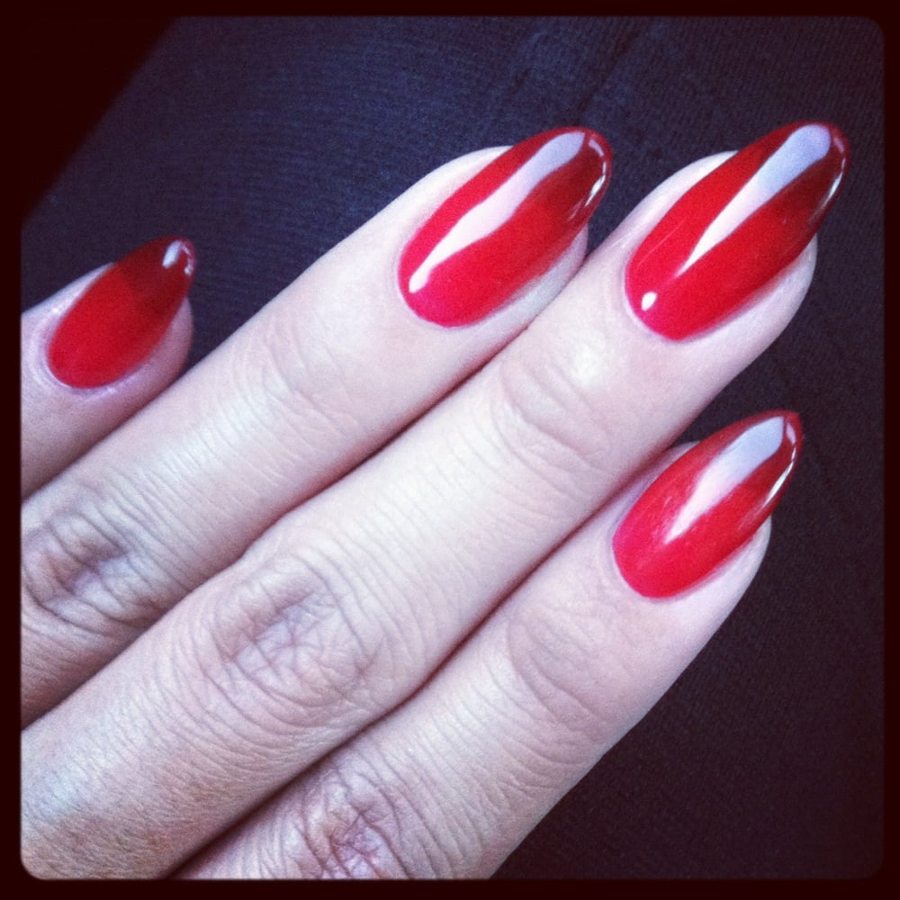 Red ombré nails. - Yelp