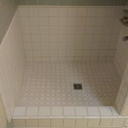 photo of sterling craft plumbing boiling springs sc united states replaced a replaced a damaged tile shower pan