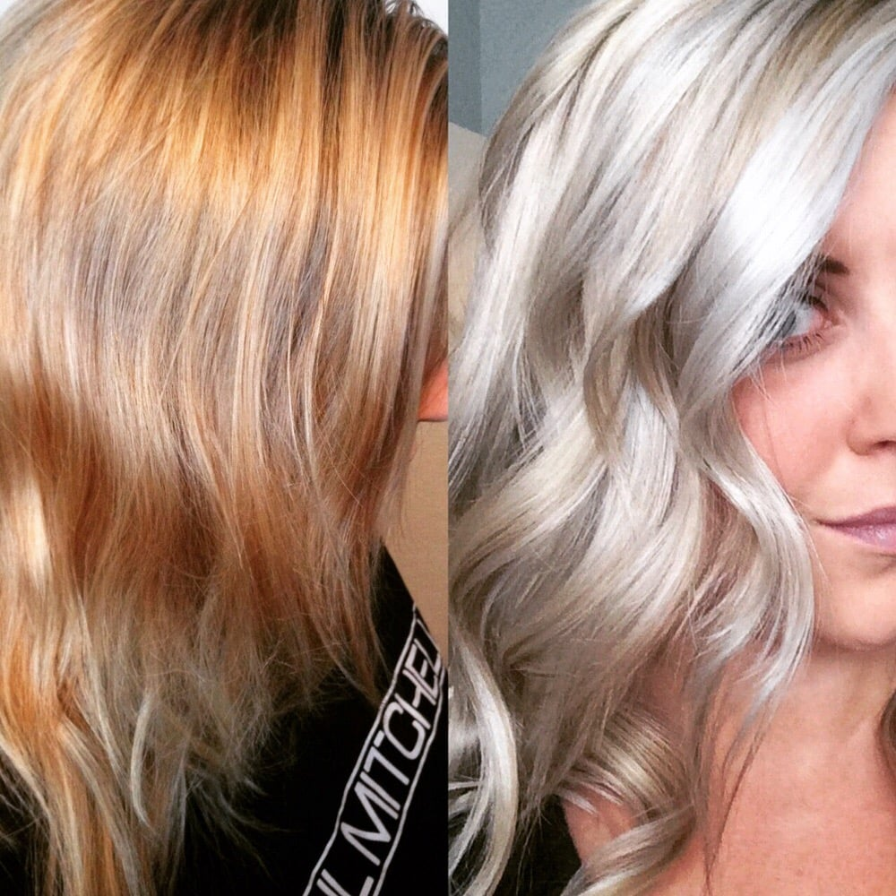 Before And After Platinumizing By Bre Olaplex