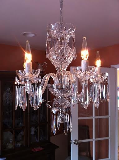 Waterford crystal chandelier rewired repaired and cleaned by matt photo of mields ltd vintage lighting and restoration redwood city ca aloadofball Images