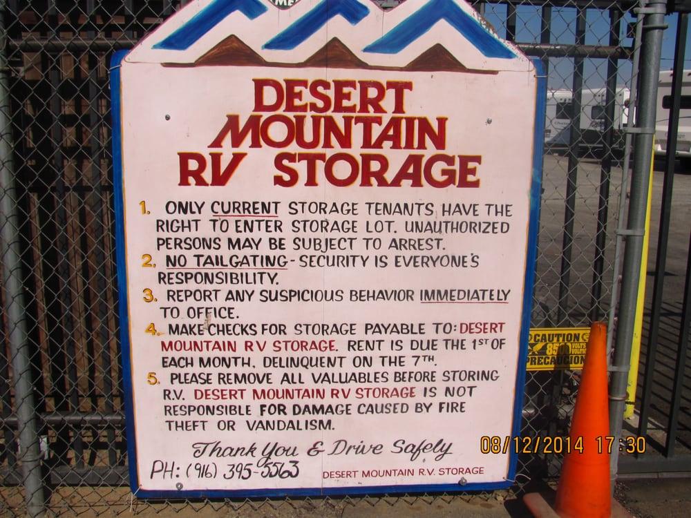 Desert Mountain Rv Storage Depositi E Box In Affitto