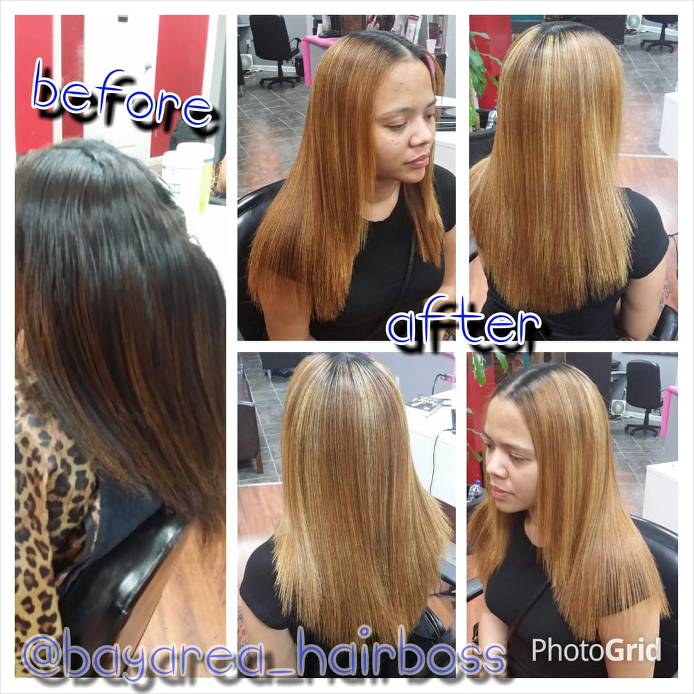 Blonde With Highlights Plus Intentional Black Roots Yelp