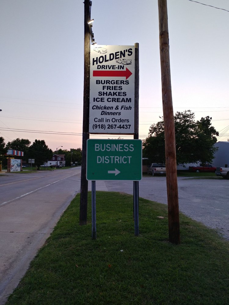 Holden's drive-in: 109 State Hwy 16, Beggs, OK