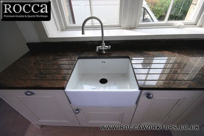 Photo Of Rocca Granite Worktops Renfrewshire United Kingdom Worktop Cut Around A