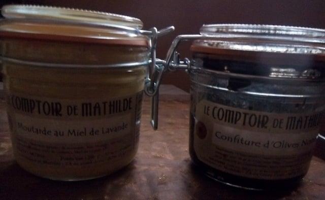 Moutarde au miel de lavande et confiture d 39 olives noires - Le comptoir de mathilde lyon ...