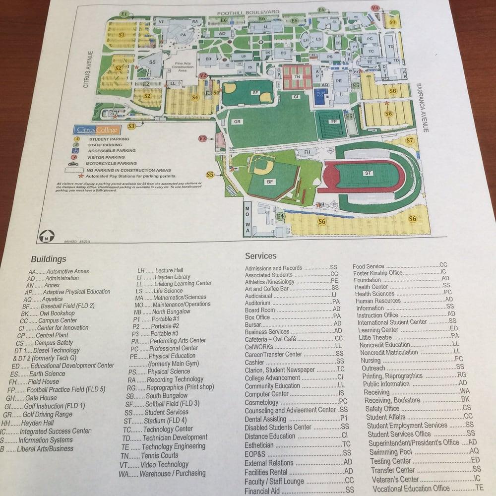 Citrus College Campus Map Gadgets 2018: Citrus College Campus Map