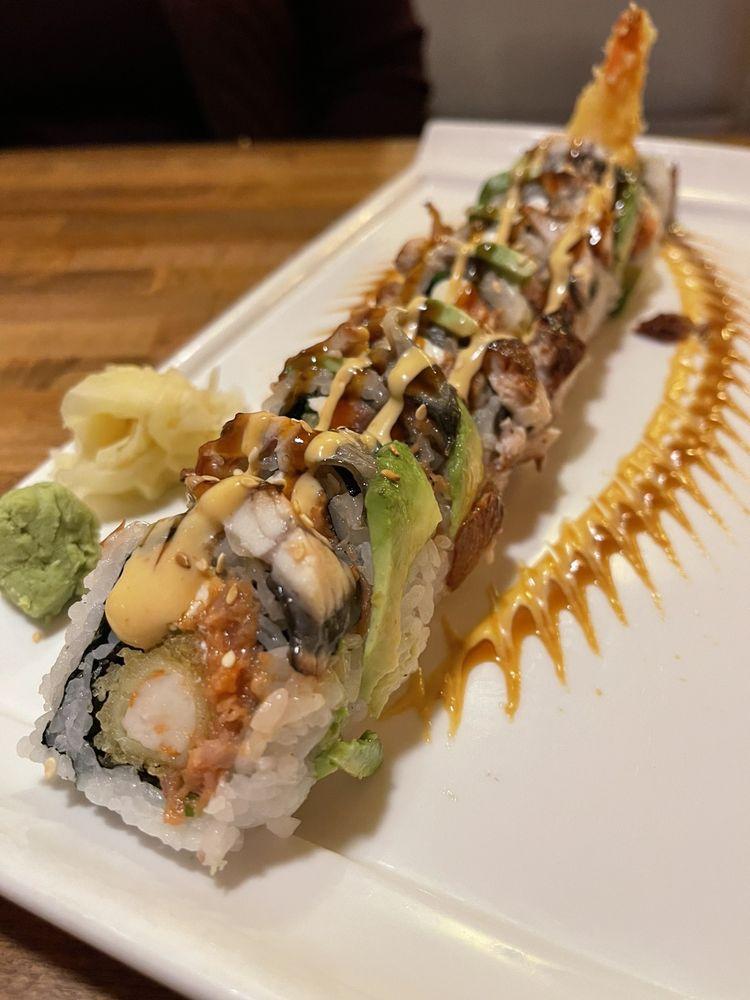 Food from Island Sushi & Ramen