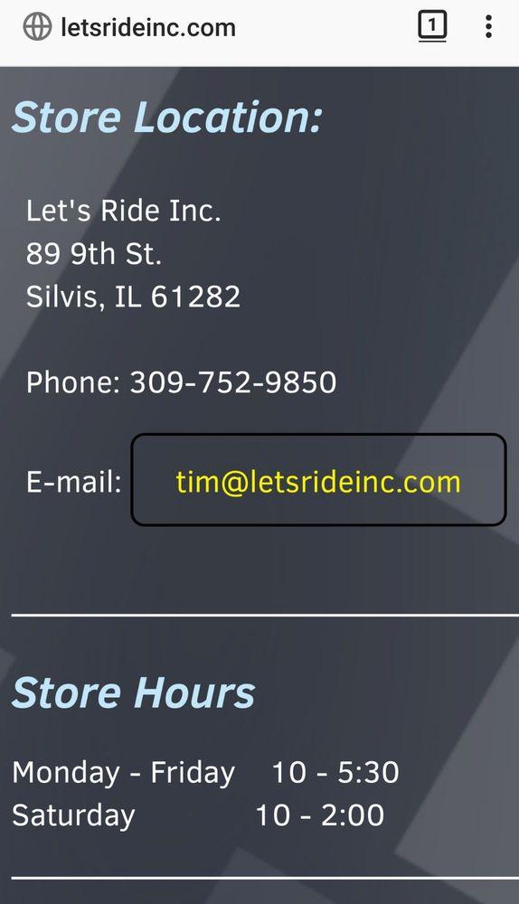 Let's Ride: 89 9th St, Silvis, IL