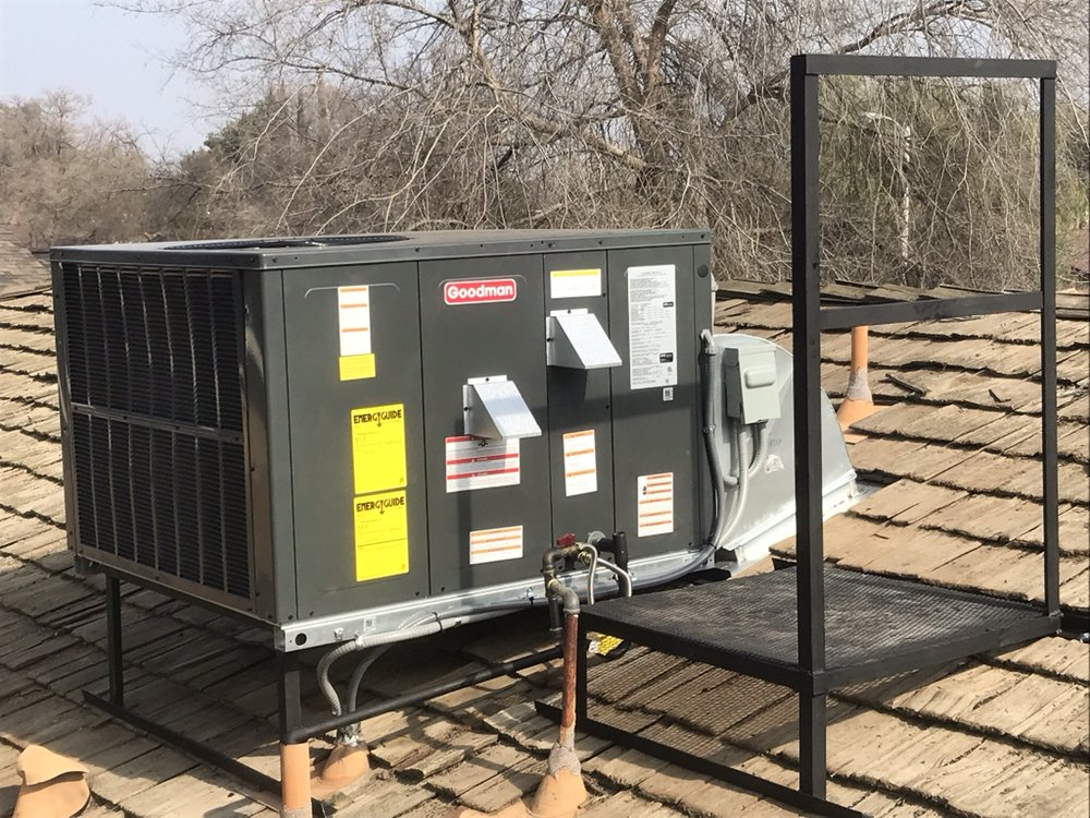 New Installation by The Air Doctor  Goodman Package unit on